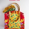 Pretty Floral Divided Tote {free pattern & tutorial}