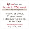 Thanks to YOU Week! 3 Year Blogiversary Event.