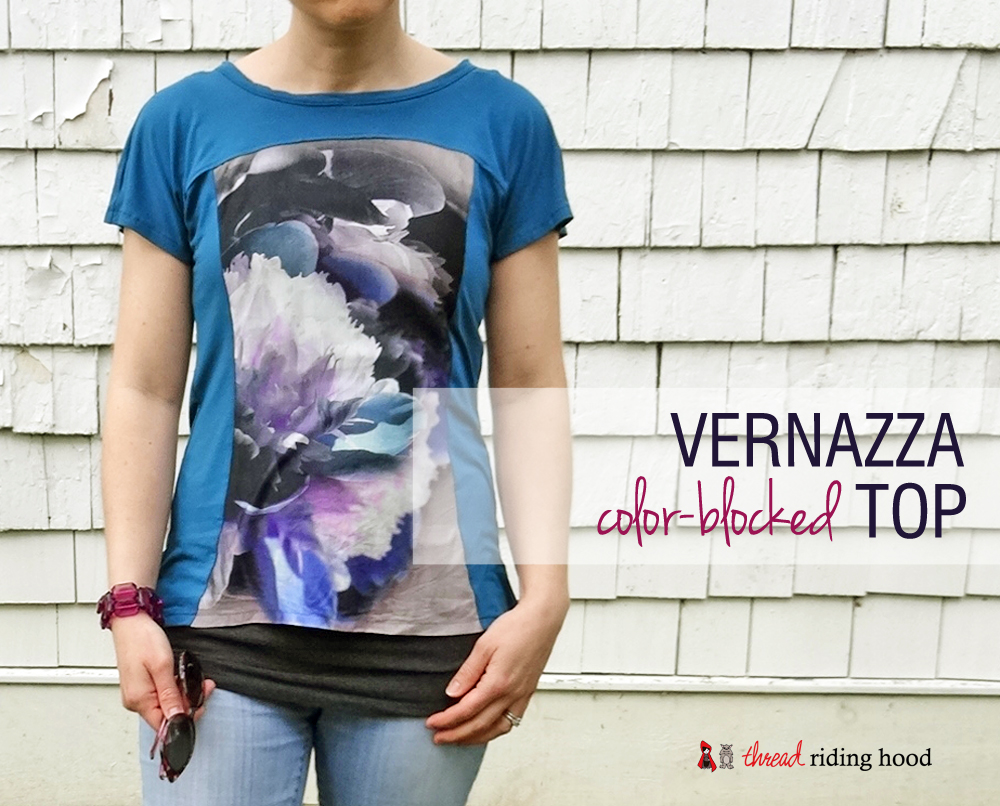 Vernazza Color-Block Top {pattern review}