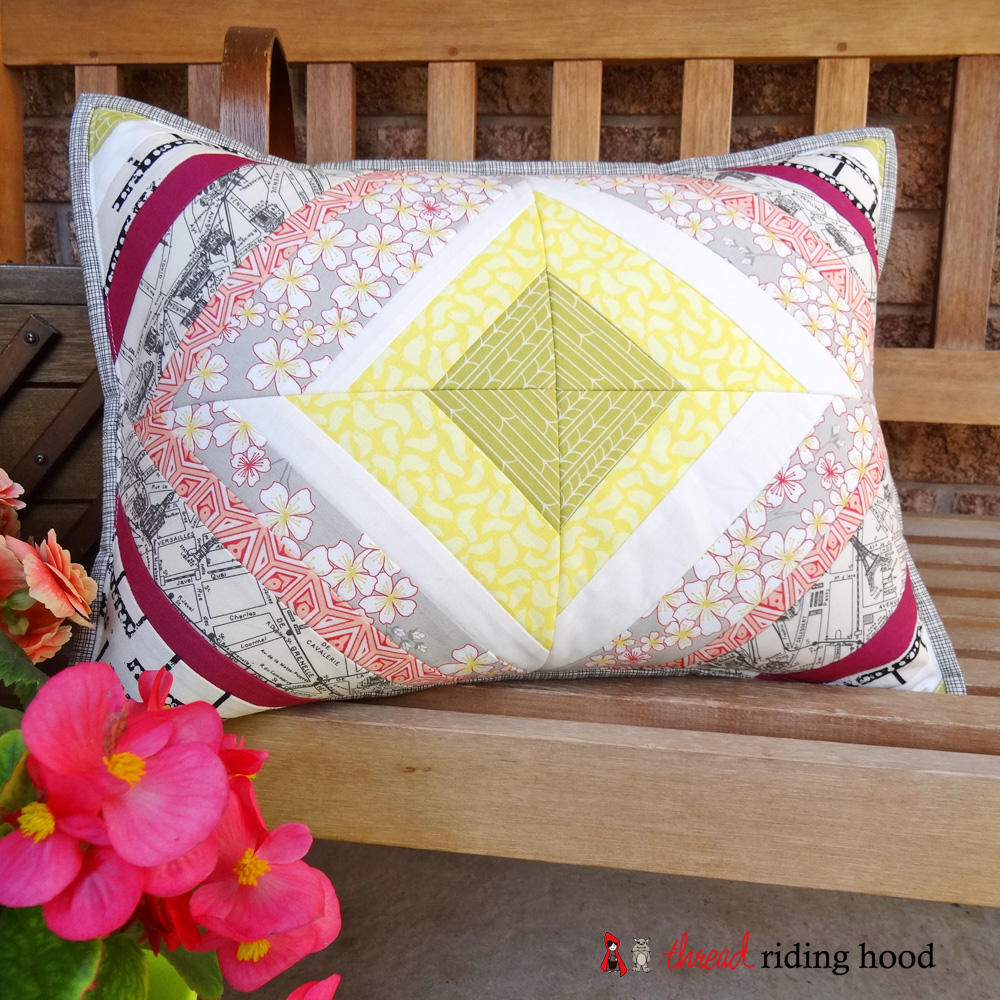 Diamond String Pillow {mini tutorial & product review}