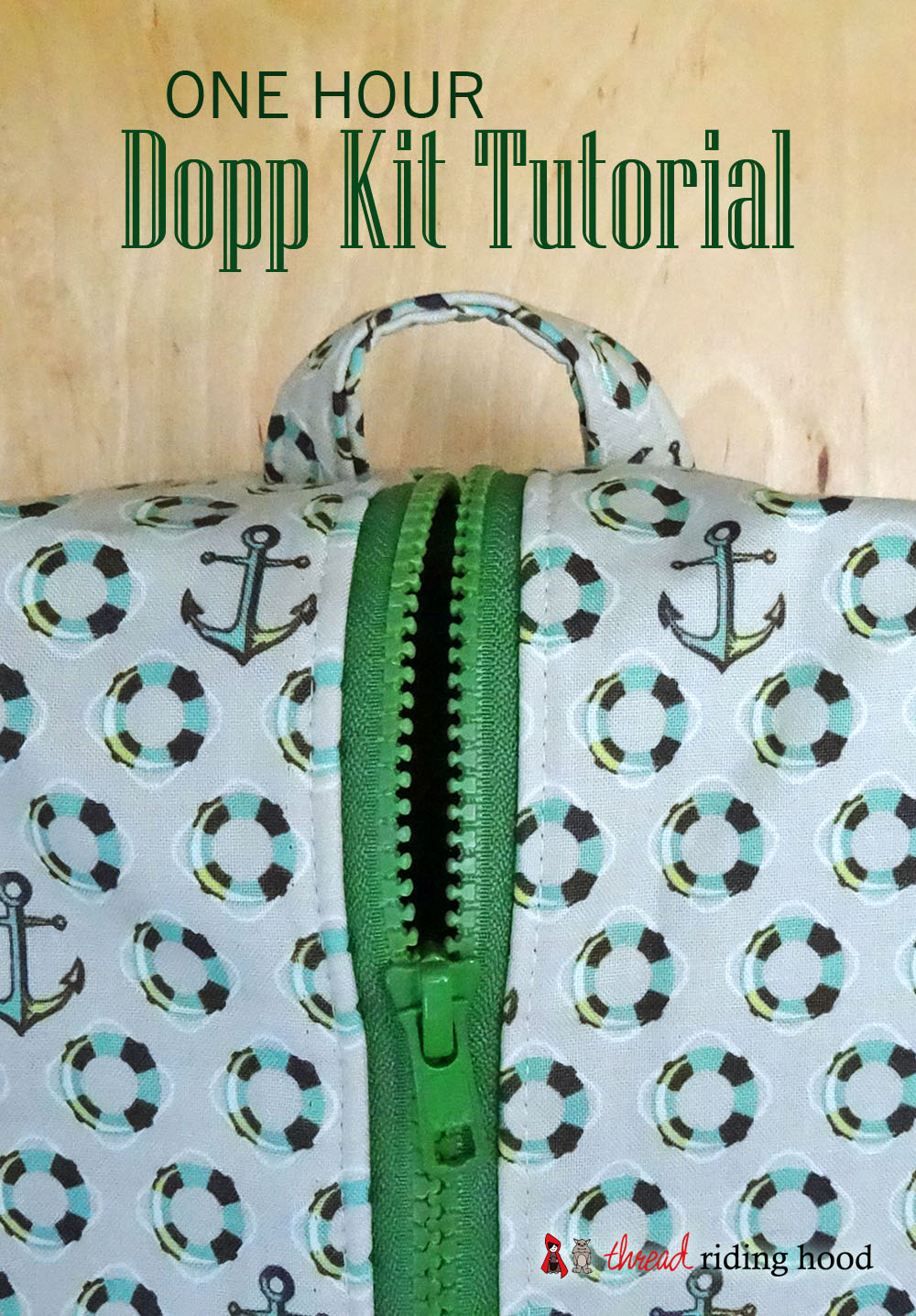 Last Minute 1 Hour Dopp Kit {tutorial}